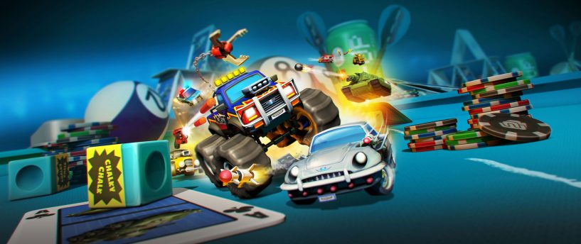SEE THE MINIATURE MULTIPLAYER MAYHEM UNFOLD  IN THE FIRST MICRO MACHINES WORLD SERIES  GAMEPLAY TRAILER